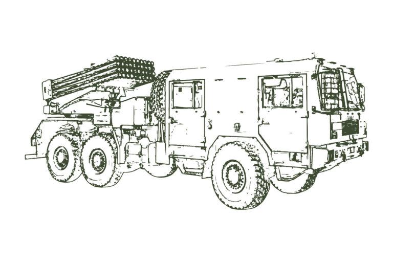 Wyrzutnie art. WR-40 Langusta, BM-21 i RM-70